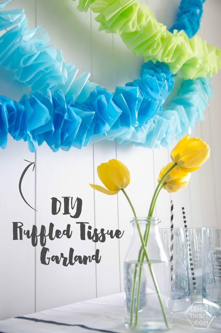 Tulle on a thread - garland idea for any interior