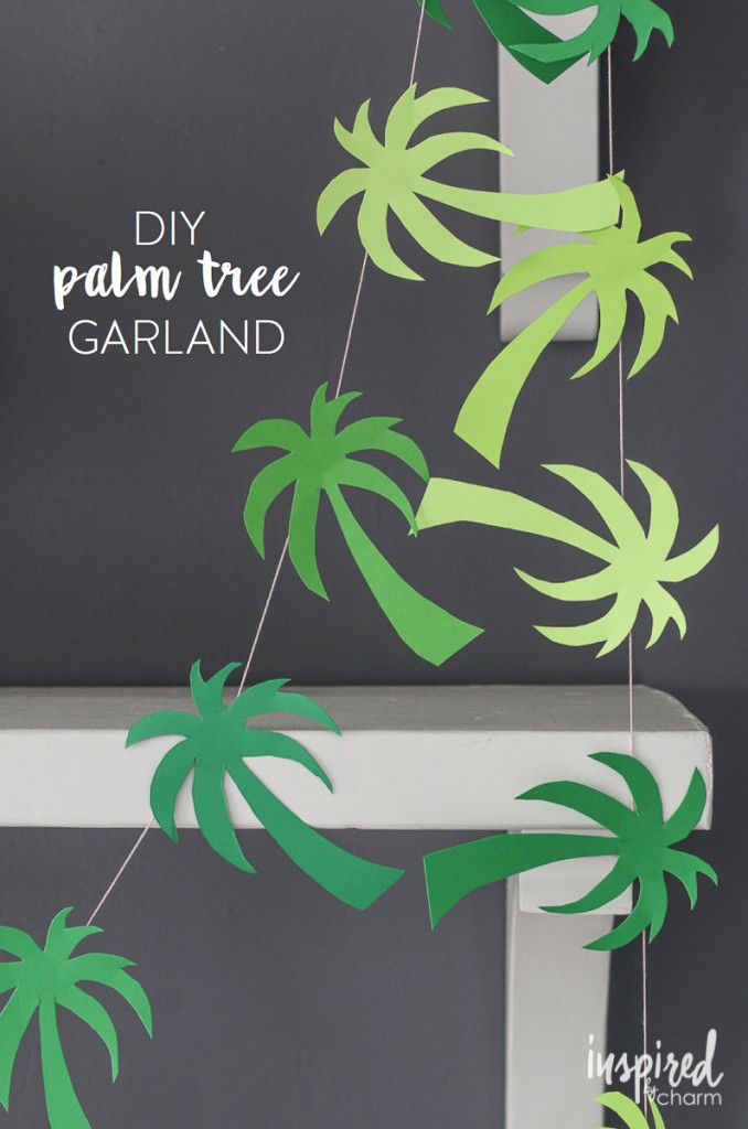 Palms on a thread to decorate your place