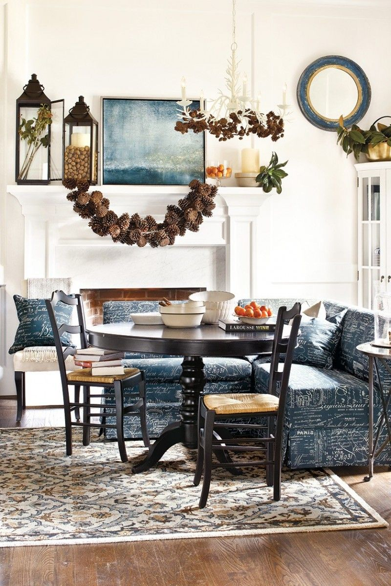 Fashionable garland above the table