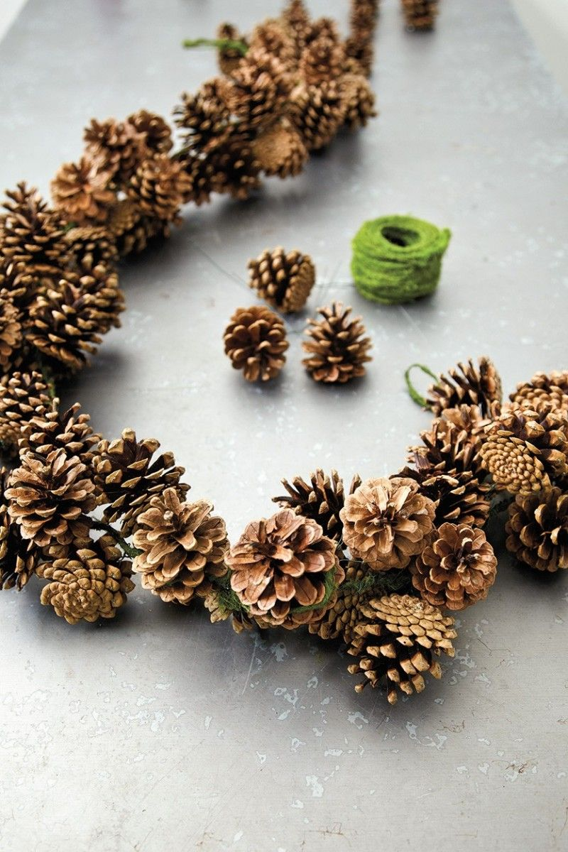 fir cone garland - natural and   cute decoration