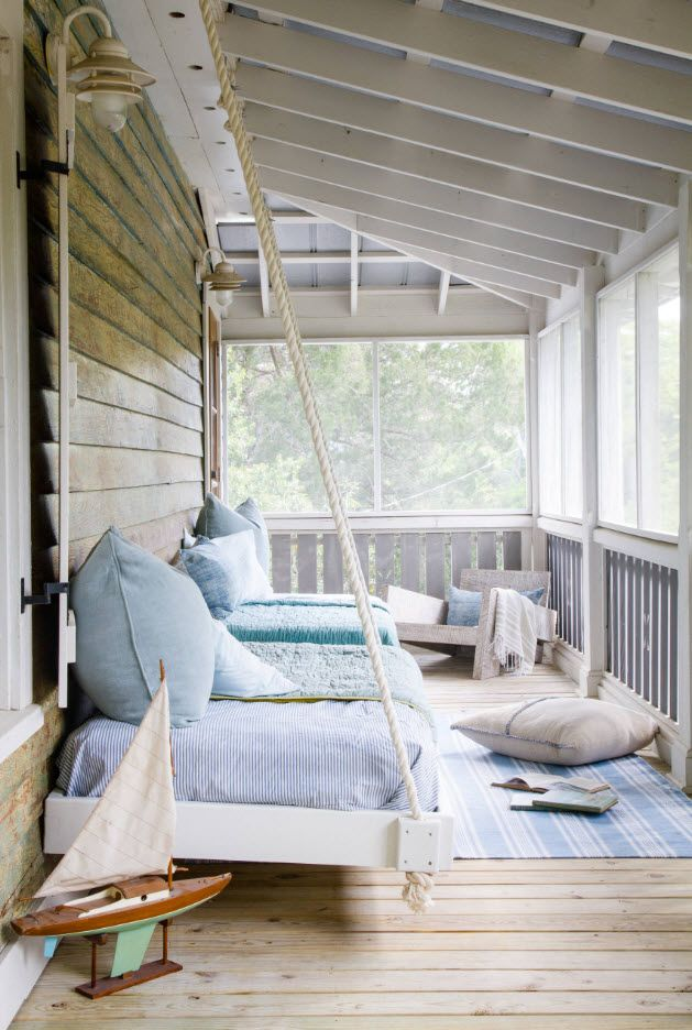 Country House Porch Decoration & Design Ideas. Different from the facade color solution for the entrance canopy