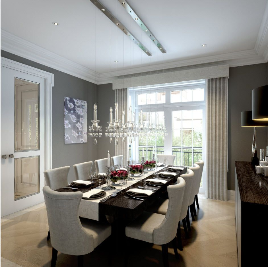 Classic design of the large dining room
