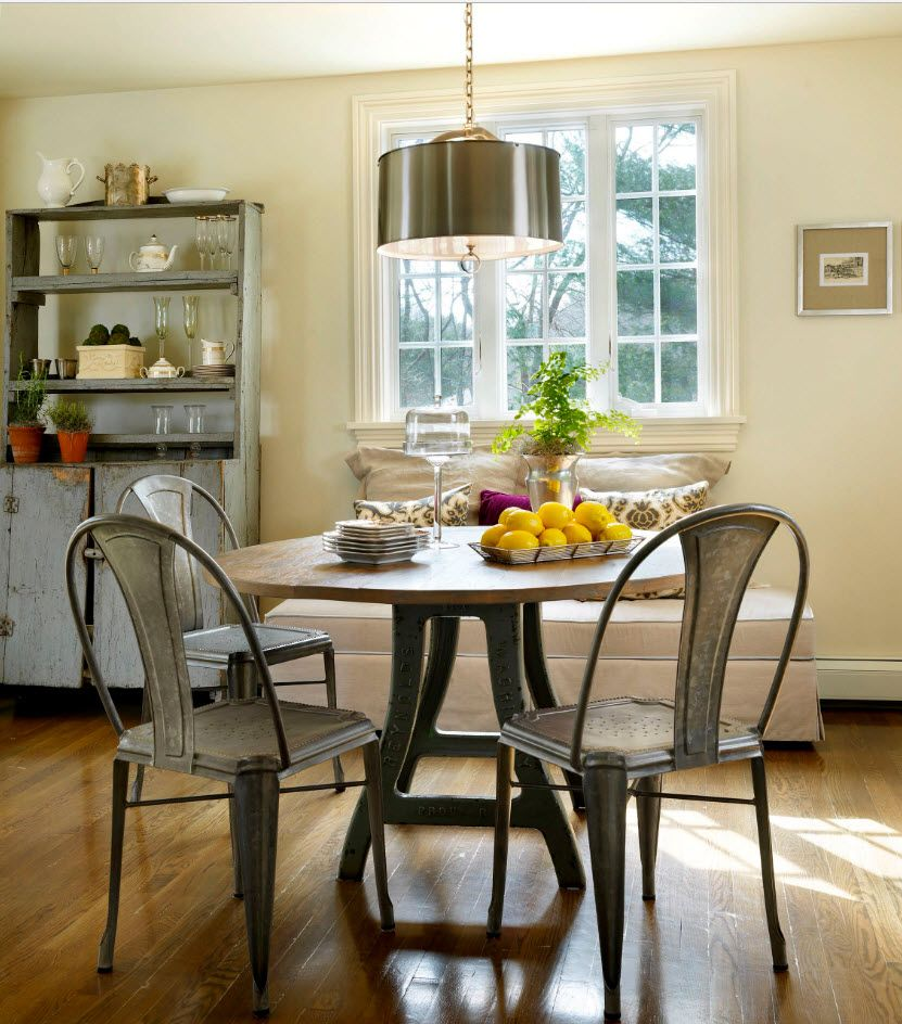 gray palette for the furniture in the light dining