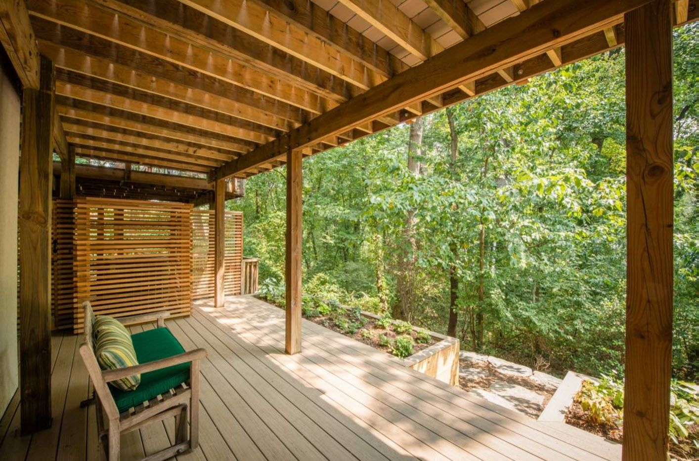 Country House Porch Decoration & Design Ideas. Ecostyle tropic home with wooden canopy and platform