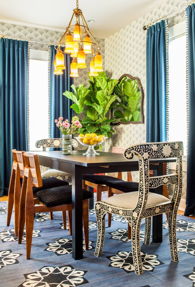Eco style in the large dining