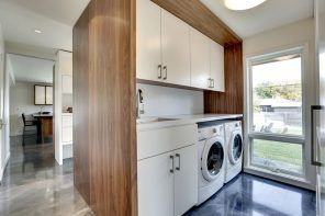 Laundry Allocation Options for Modern Home Interior