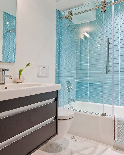 Glass Bathroom Screen. Types, Design, Interior Application. Modern design for the vanity