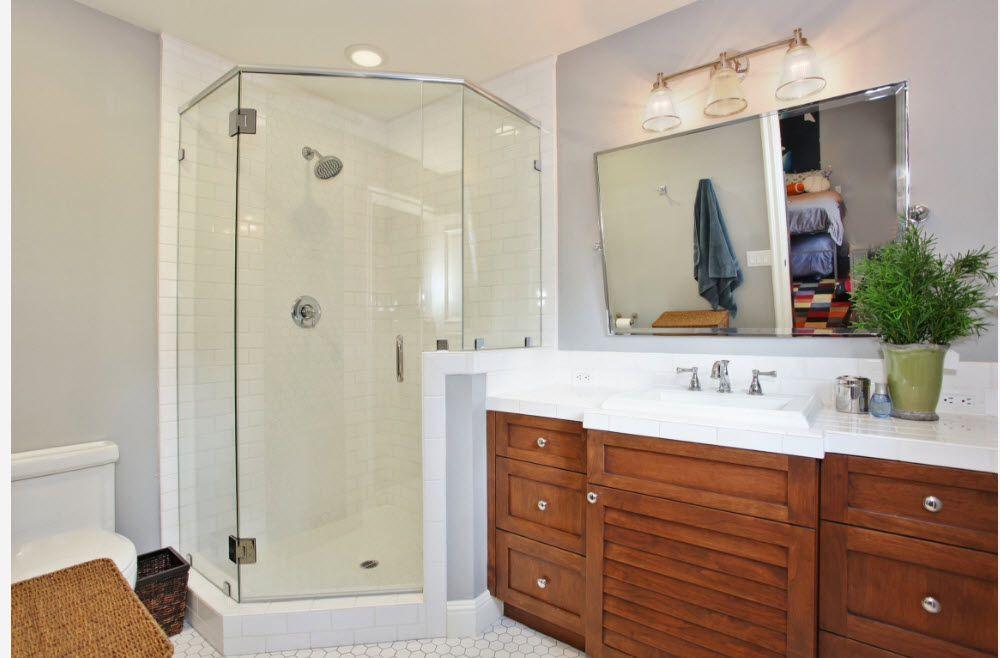 Modern Bathroom Interior Shower Cabin Design - Small Design Ideas