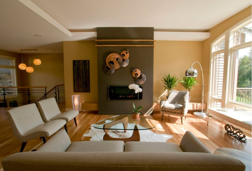 Notes of eco and beach styles in the modern interior