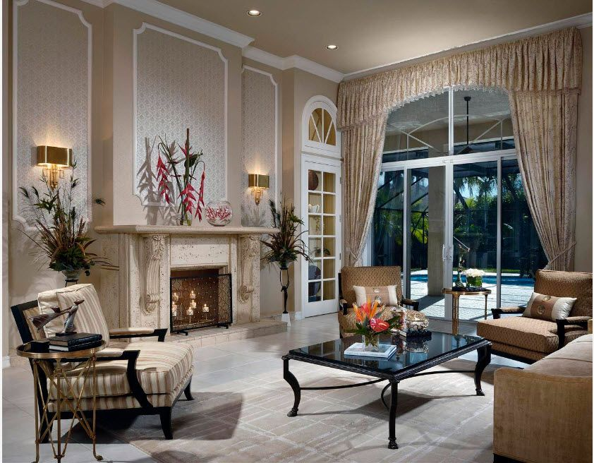 Classic room with large panoramic window