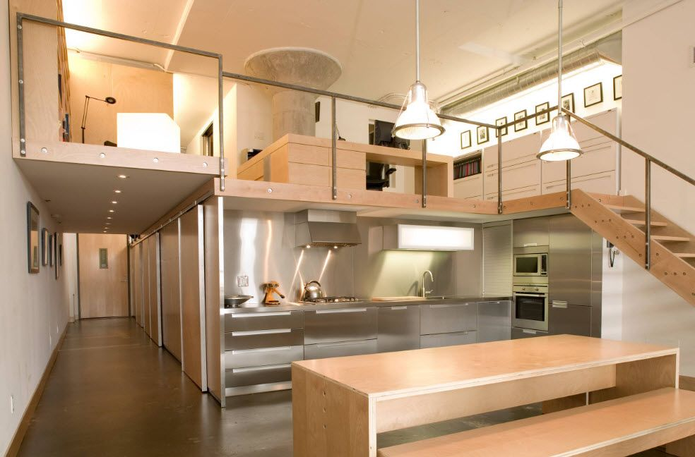 Former warehouse can be transformed to brand-new fresh designed apartment with large kitchen zone