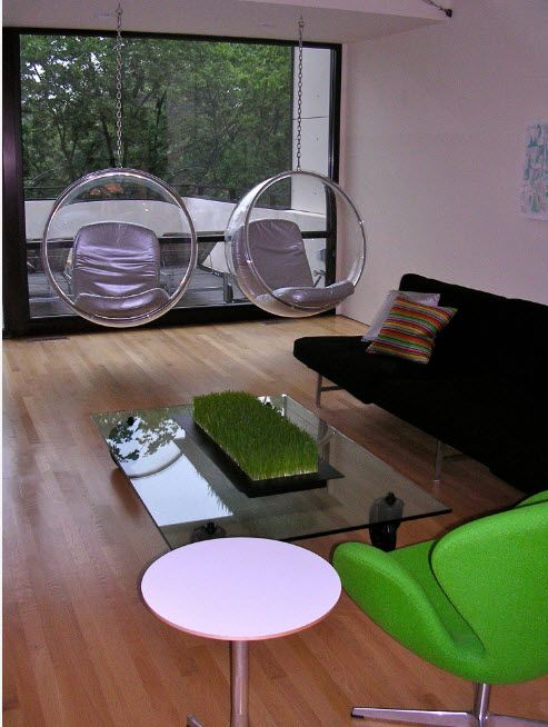 Suspended Bubble Chair. Modern Interior Ideas. Business atmosphere in the modern living