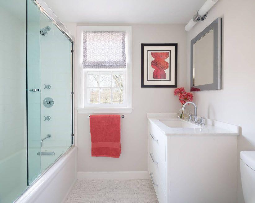 Glass Bathroom Screen. Types, Design, Interior Application. Modern minimalism