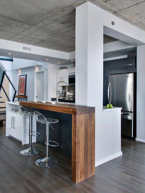 Modern loft in white tones