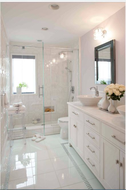 Modern Bathroom Interior Shower Cabin Design. Absolutely monochromatic matted creamy white atmosphere