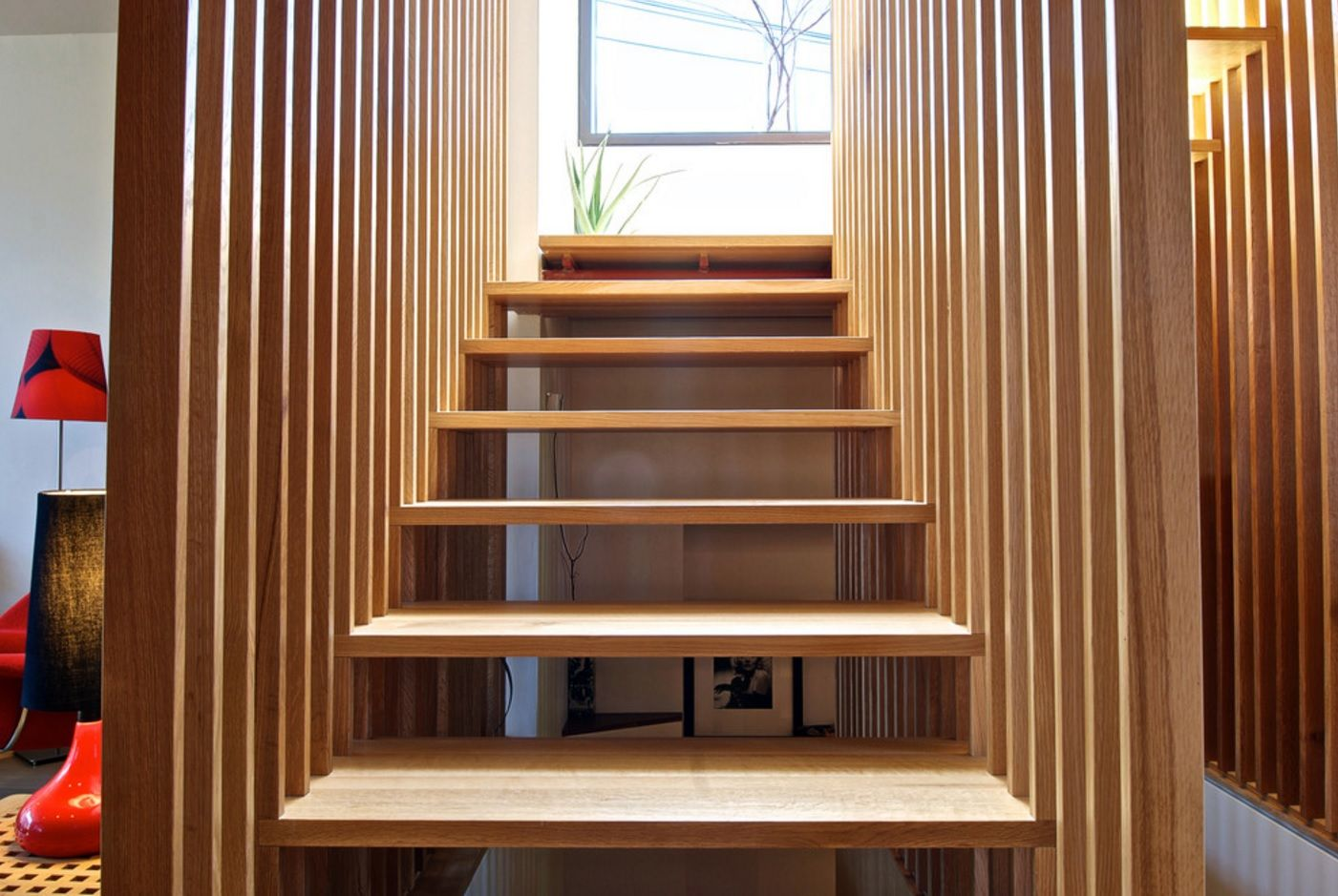 Modern Private House's Balustrade Design. Totally wooden construction