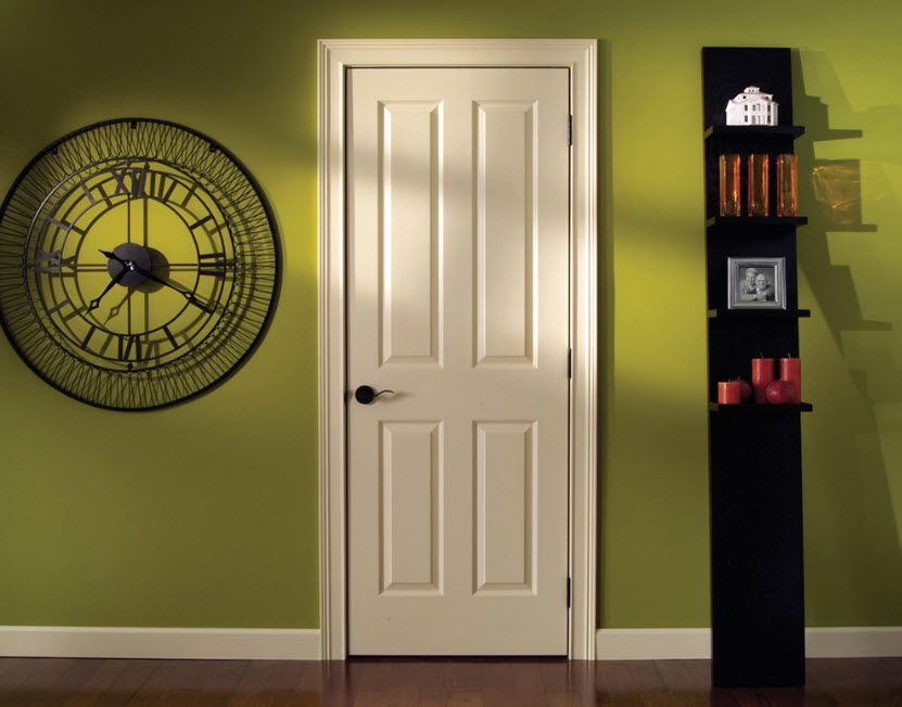 Simple and concise door design for the casual styled interior