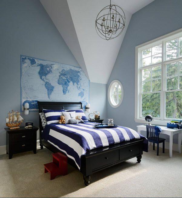 Wenge Color Modern Interior Design Ideas. Dark wooden bed in the large bedroom