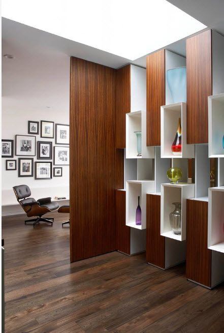 Unusual multicolored shelving in cells' designed