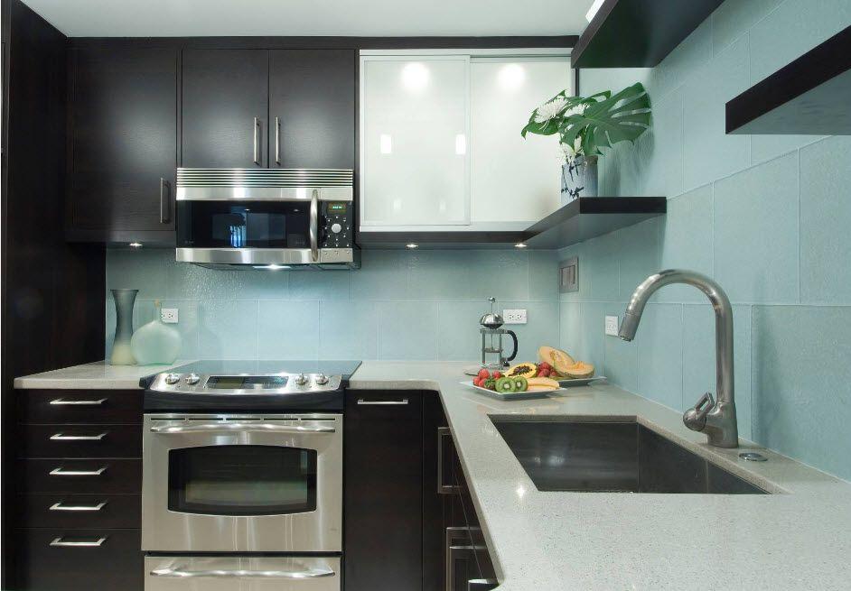Wenge Color Modern Interior Design Ideas. Ultramodern funriture set for contrasting kitchen