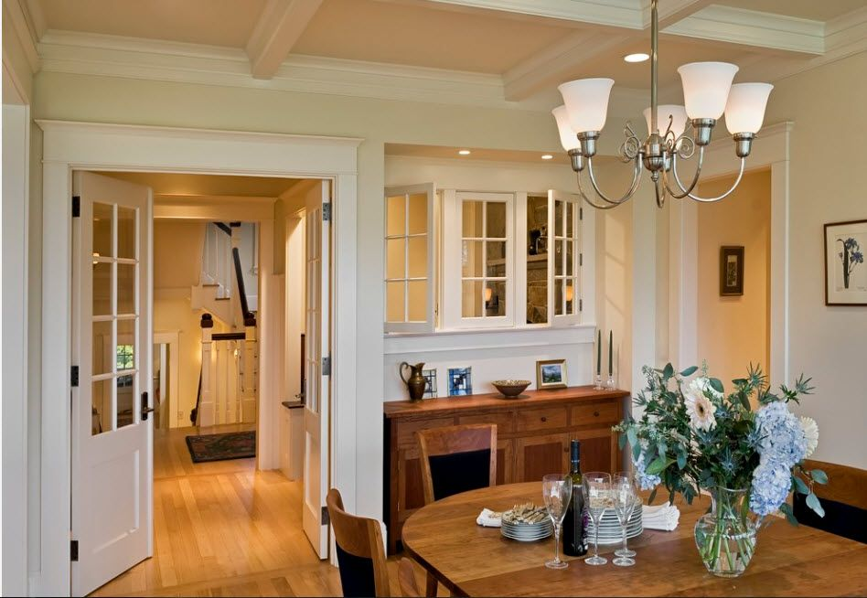Interior Doors. Essential Element of Modern Apartment. Swinging construction for Classic styled atmosphere