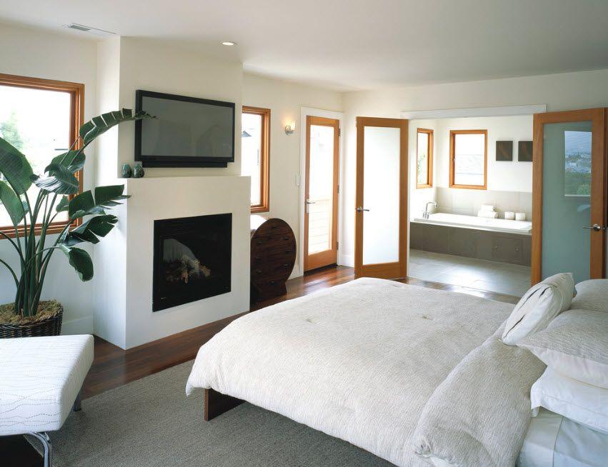 Interior Doors. Essential Element of Modern Apartment. Glass insert between stiles