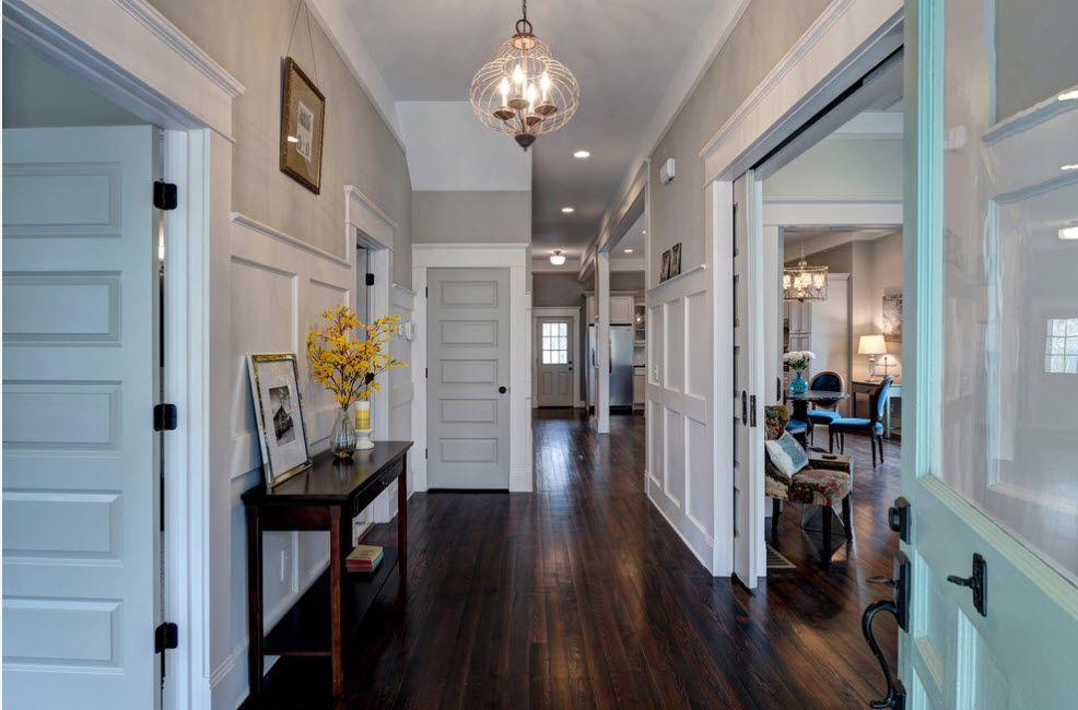 Interior Doors. Essential Element of Modern Apartment. Dark floor for the classic interior