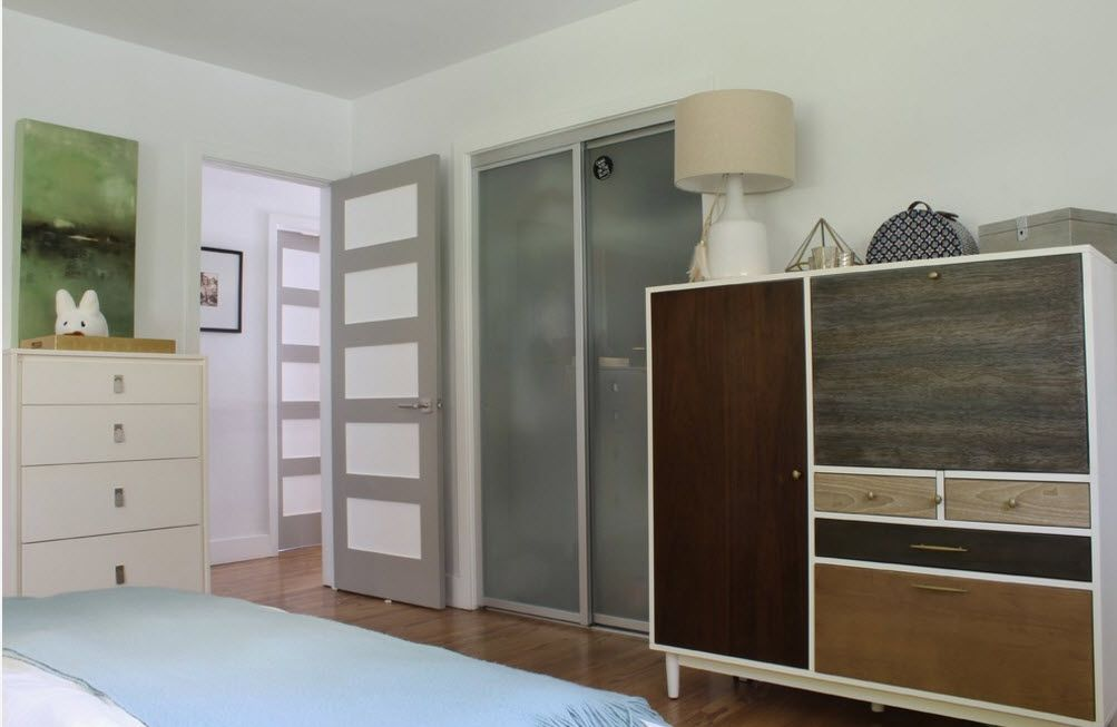 Interior Doors. Essential Element of Modern Apartment. Modern universal design