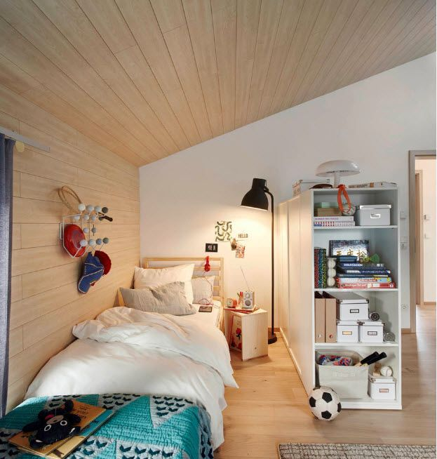 Loft designed kids' bedroom