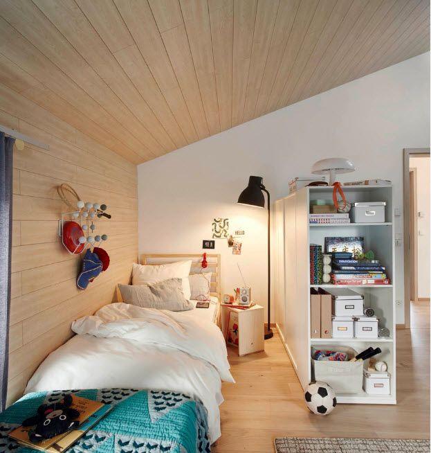 Loft designed kids' bedroom