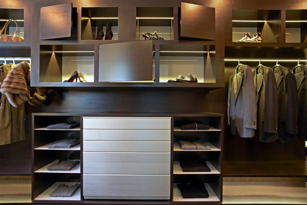 Wenge Color Modern Interior Design Ideas. Nice dark wardrobe stylistic