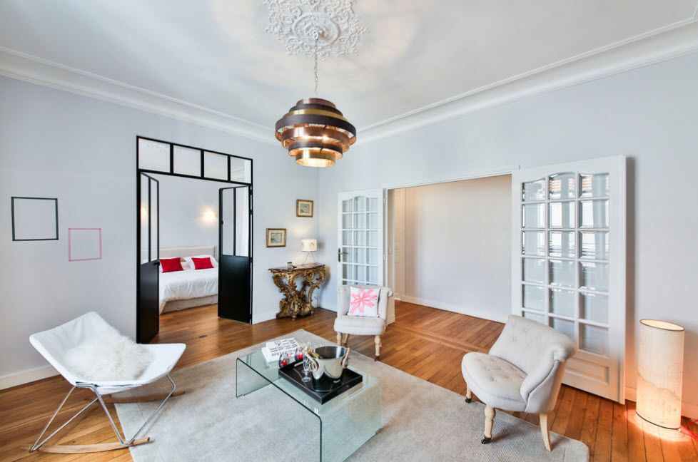 Essential Element Of Modern Apartment White Space With Shabby Chic Notes And