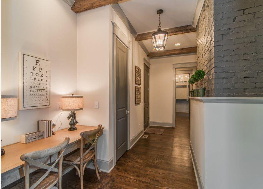 Interior Doors. Essential Element of Modern Apartment. Couple of interrooms in the corridor