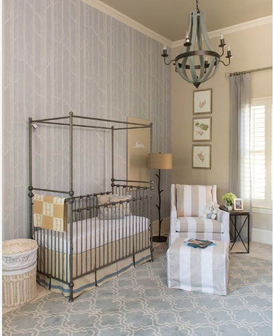 Gorgeous metal framed sleeper for the baby