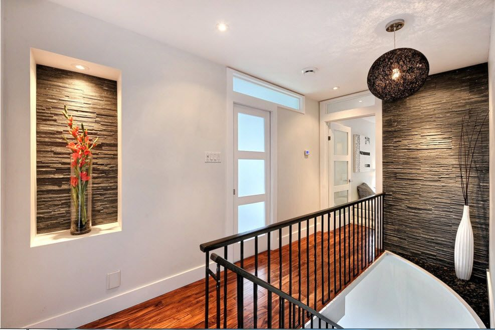 The Use of Decorative Stone for Modern Interiors' Finishing.  Picture imitation at the second floor