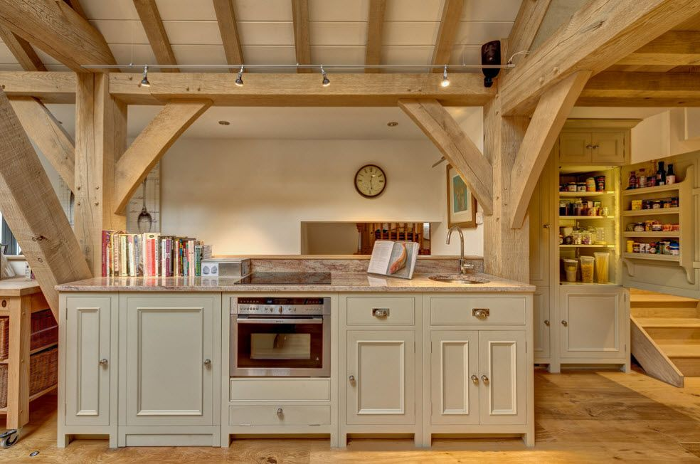 Wooden idyll in the rustic styled kitchen
