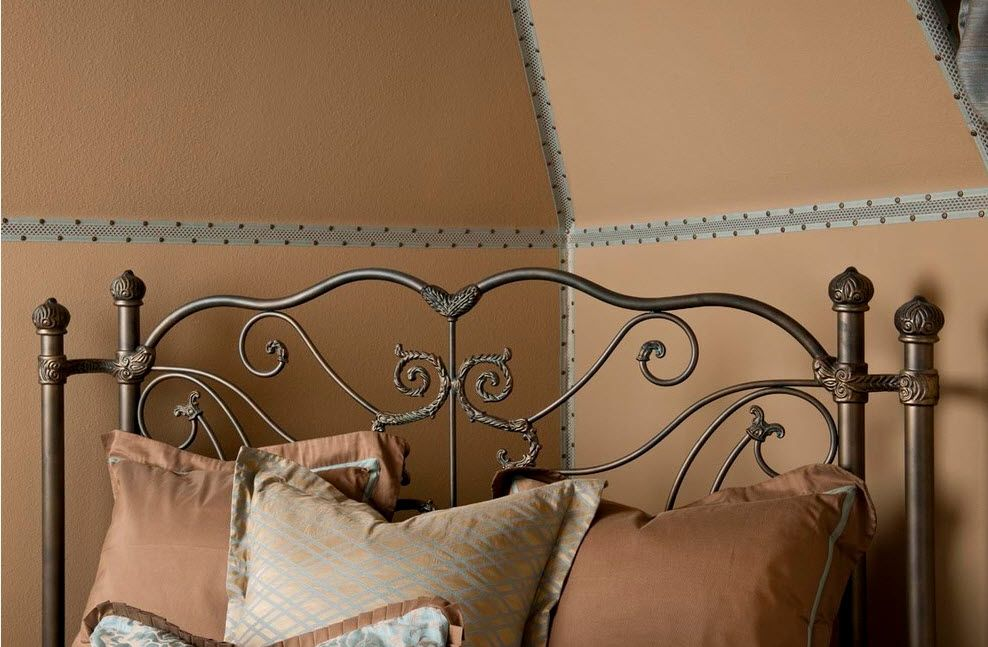 Wrought-iron Bed as a Stylish and Functional Interior Element. The forging as the masterpiece of art