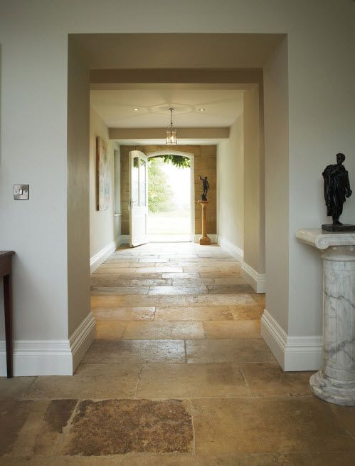 Roomy entrance and hall in the Classic styled mansion