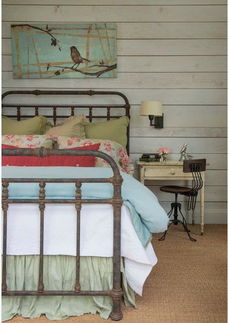 Multicolored childrens' room with Rustic style touch