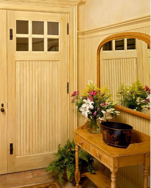 Bleached Oak Color in Modern Interior Design. Naturally trimmed mud room