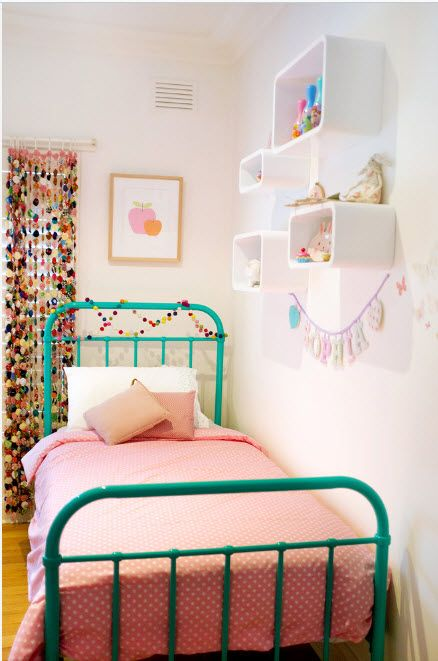 Colored kids room with reviving mix of colors
