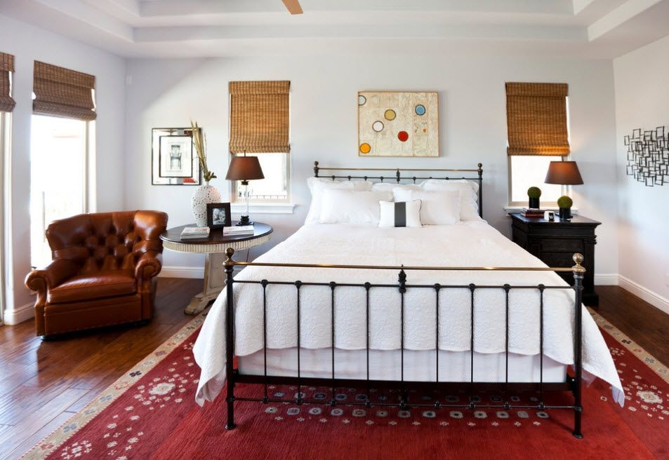 Wrought-iron Bed as a Stylish and Functional Interior Element. Simple and concise rustic and Classic mix of styles