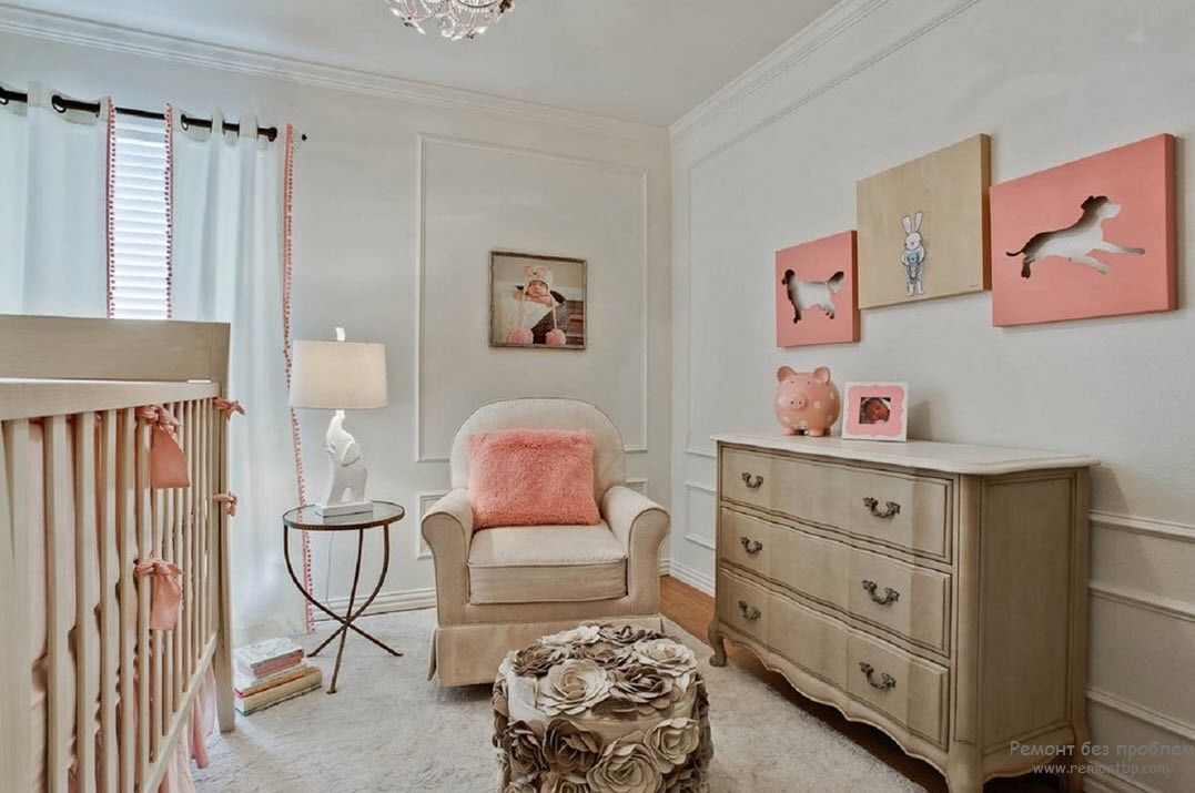 Peach Color Interior Design Ideas. Fruit Orchid at Home. Calming atmosphere in the rest room