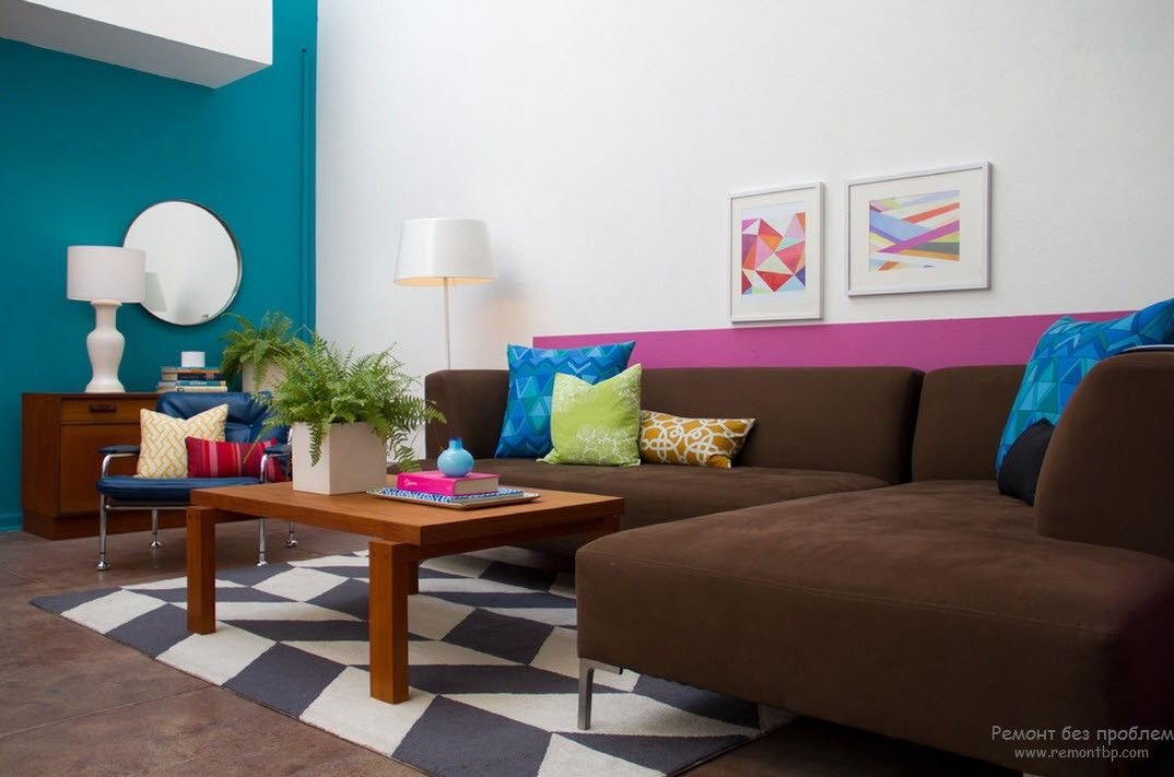 Fusion vivacity in the colorful designed living oom