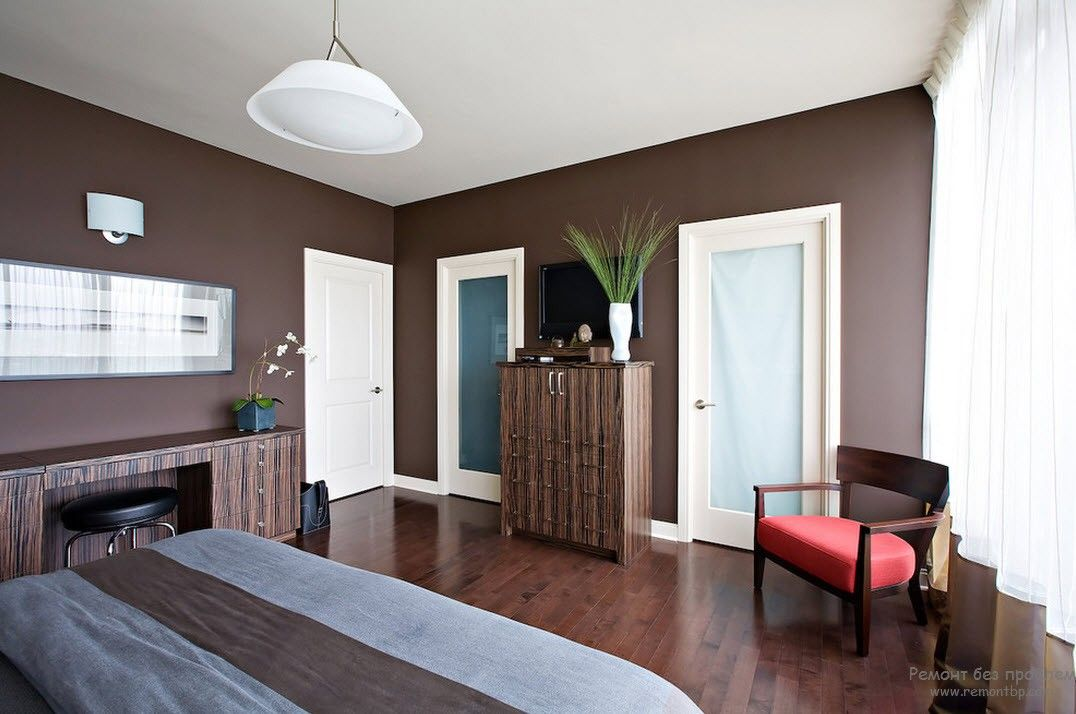 Brown Color Interior Decoration Ideas. Kitchen, Bedroom, Living Room. Nice mixing with white
