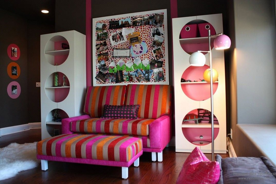 Pop-art colorful youth interior idea