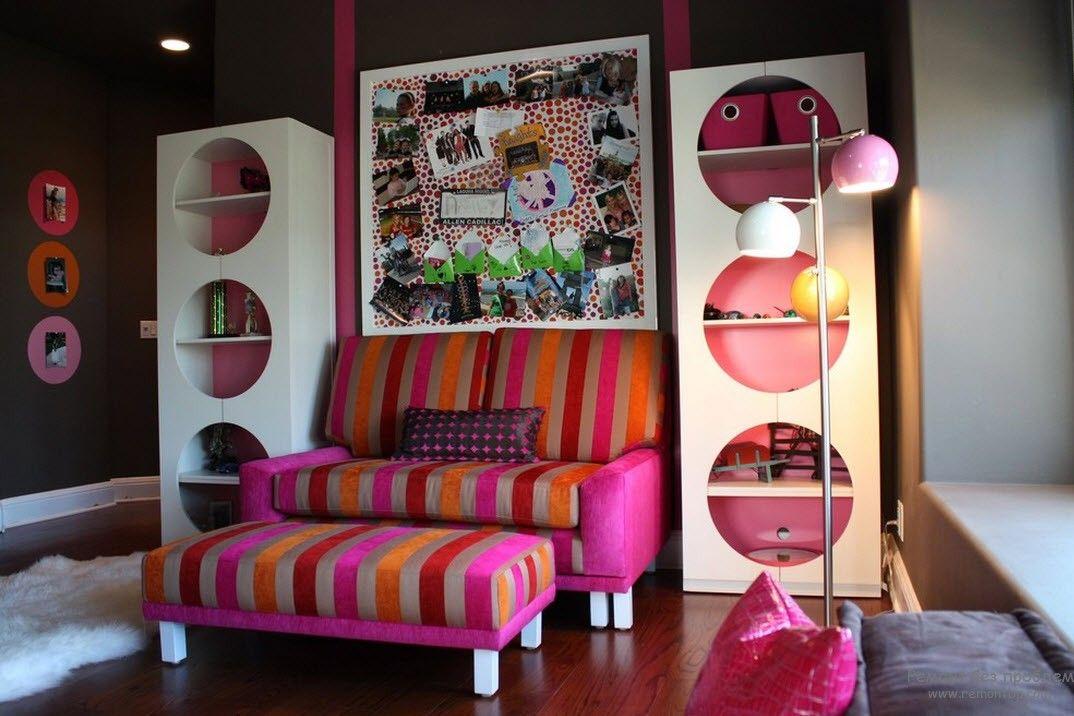 Pop-art colorful youth interior idea