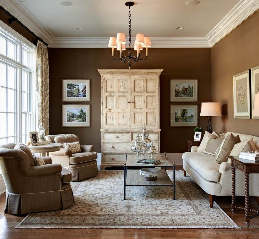 Brown Color Interior Decoration Ideas. Kitchen, Bedroom, Living Room. Chocolate color for Classic style tranquility