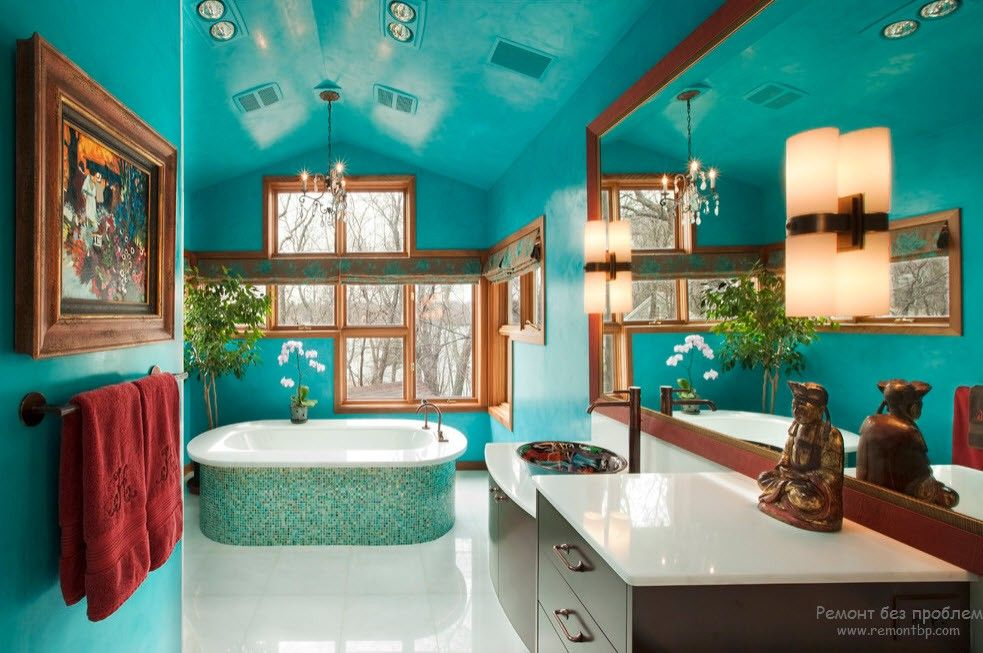 Turquoise Color Interior Decoration. Marine Theme for Your Home, especially in the bathroom