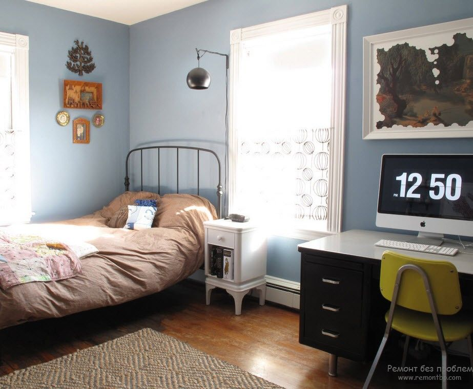Modern Youth Interior Design. Photo Ideas. Casual styled room for a boy